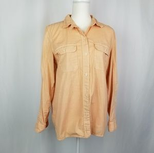 Madewell Light Orange Button Down Shirt